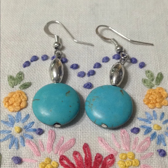 4f21836f8 Sterling Silver & Turquoise Dangly Earrings!